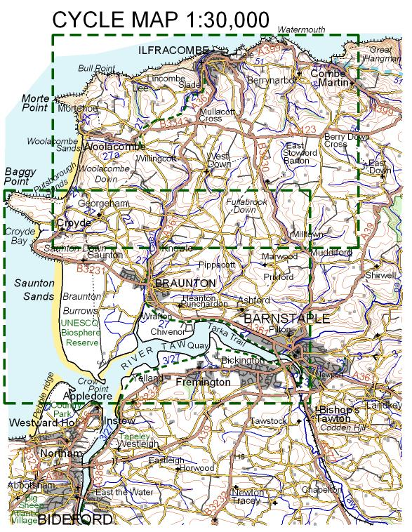 Croydecycle cycle maps 1:30,000