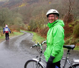 Ricky Knight cycling on Exmoor